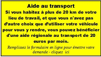 Aide au transport 2020